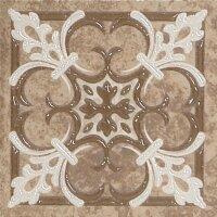 Керамическая плитка Gracia Ceramica Soul dark brown border PG 01 107х107