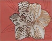 Керамическая плитка Нефрит-Керамика Вставка Лилия терракотовая стекло 8х10