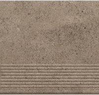 Керамическая плитка Paradyz Клинкер Stylo Grafit ступень прямая структурная 30x30