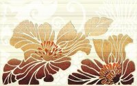 Керамическая плитка Нефрит-Керамика 04-01-1-09-03-15-075-1 Декор Кензо коричневый 01 25х40