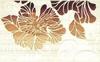 Керамическая плитка Нефрит-Керамика Декор Кензо коричневый 02 25х40