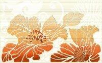 Керамическая плитка Нефрит-Керамика Декор Кензо терракотовый 01 25х40
