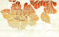 Керамическая плитка Нефрит-Керамика Декор Кензо терракотовый 02 25х40