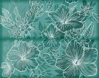 Керамическая плитка Kerlife Elissa Mare Fiore панно бирюзовый 40.2х50.5см