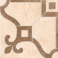 Керамическая плитка Vitra Marfim Ковровый Декор Бежевый Коричневый Матовый 45x45