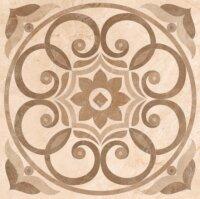 Керамическая плитка Vitra Marfim Декор Медальон Бежевый Коричневый Матовый 45x45