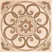 Керамическая плитка Vitra Marfim Декор Медальон Бежевый Коричневый Лаппато 45x45