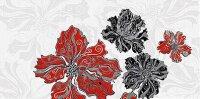 Керамическая плитка Azori Валькирия Декор Цветы 2 20.1x40.5