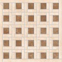 Керамическая плитка Vitra Marfim Мозаичный Декор Бежевый Коричневый Матовый 45x45