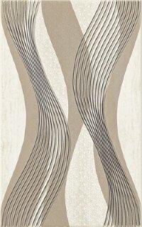Керамическая плитка Paradyz Kwadro Sari Beige Inserto декор 25х40