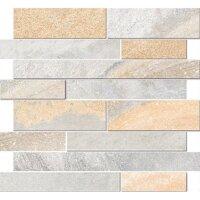 Керамическая плитка Vitra Vulcano Мозаика 3D Натуральный Серый Матовый Ректификат 28х32