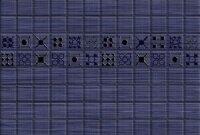 Керамическая плитка Керамин Калипсо 2 декор синий 27.5х40см