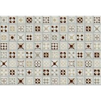 Керамическая плитка Керамин Калипсо 7 панно белый 27.5х40см