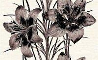 Керамическая плитка Нефрит-Керамика Декор Piano букет коричневый 25х40