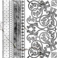 Керамическая плитка Grasaro Marble Classic декор боковой  G-270/G/d03 40х40см