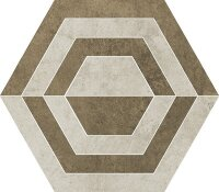 Керамическая плитка Paradyz SCRATCH Beige HEKSAGON А декор 26х29.8