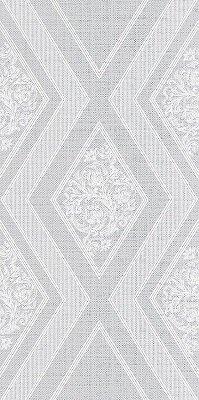 Керамическая плитка Azori Illusio Grey Декор Geometry 63x31.5