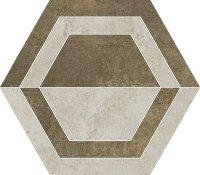 Керамическая плитка Paradyz SCRATCH Beige HEKSAGON B декор 26х29.8