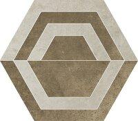 Керамическая плитка Paradyz SCRATCH Beige HEKSAGON C декор 26х29.8