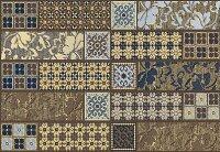 Керамическая плитка Azori Камлот Мокка Эйша Декор 27.8x40.5