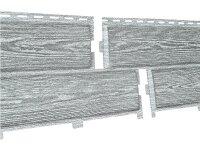 Фасадная панель Ю-пласт Хокла Винтаж Пепел (2000х250мм) 0.5м²