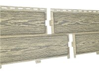 Фасадная панель Ю-пласт Хокла Винтаж Солома (2000х250мм) 0.5м²