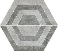 Керамическая плитка Paradyz SCRATCH Grys HEKSAGON A декор 26х29.8