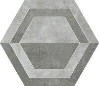 Керамическая плитка Paradyz SCRATCH Grys HEKSAGON B декор 26х29.8