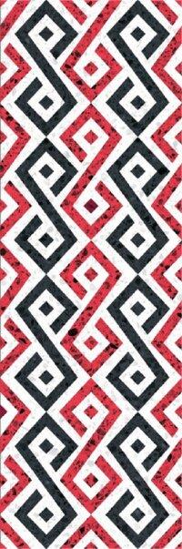 Керамическая плитка Gracia Ceramica Molle red decor 01 300х900
