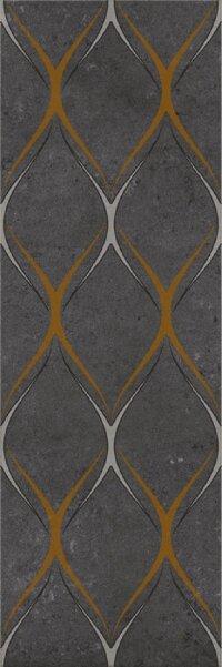 Керамическая плитка Gracia Ceramica Silvia black decor 03 300х900