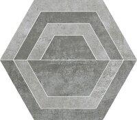 Керамическая плитка Paradyz SCRATCH Grys HEKSAGON C декор 26х29.8