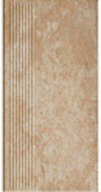 Керамическая плитка Paradyz Клинкер Ilario Beige ступень прямая рифленая структурная 30x60