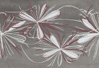 Декор Azori Sonnet Grey Flower 278x405