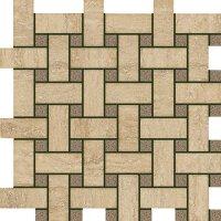 Керамическая плитка Italon 600110000060 Travertino Romano Mosaico Lounge 30.5х30.5