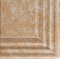 Керамическая плитка Paradyz Клинкер Ilario Beige ступень угловая структурная 30x30