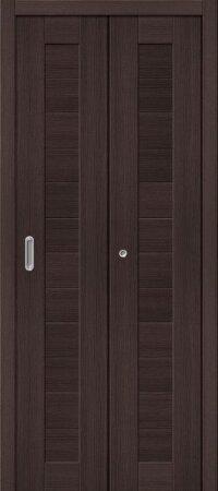 Дверь складная межкомнатная el-PORTA(Эль Порта) Порта-21 Wenge Veralinga