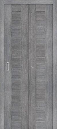 Дверь складная межкомнатная el-PORTA(Эль Порта) Порта-21 Grey Veralinga